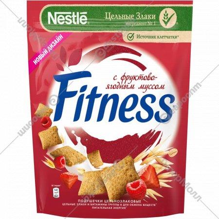 Подушечки «Fitness» мультизлаковые с фруктово-ягодным муссом, 180 г.