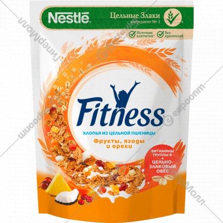 Хлопья «Fitness» цельная пшеница, с фруктами, ягодами и орехами, 200 г.