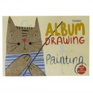 Альбом для рисования «Мяу» 40 листов, на склейке, ассорти