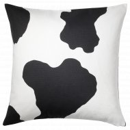 Чехол на подушку «Ранвейг» 50x50 см бело-черный.