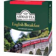 Чай черный «Ahmad Tea» английский завтрак 100 пакетиков.