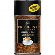 Кофе растворимый «President» с добавлением молотого, 90 г.