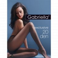 Колготки женские «Gabriella» Exclusive T-band, 20 den, размер 2, Nero