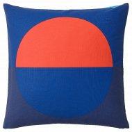 Чехол на подушку «Майялотта» 50x50 см, синий, ярко-оранжевый.