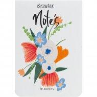 Блокнот в клетку «Flowers» 48 листов, обложка картон, ассорти