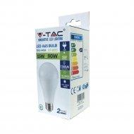 Светодиодная лампа «V-TAC» 15 Вт, 1350LM, А65, Е27, 4000К, SKU-4454.