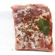 Продукт из шпика «Грудинка по-белоруски» охлажденный, 1 кг., фасовка 0.15-0.35 кг