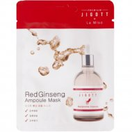 Ампульная маска «Premium Jigott&La Miso» с красным женьшенем, 27 мл.