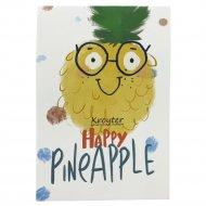 Блокнот в клетку «Друзья» Счастливый ананас, 48 листов, ассорти