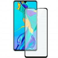 Защитное стекло «Deppa» 3D Full Glue для Huawei P30 черная рамка.