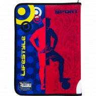 Папка для тетрадей «Спортсмен» А4, красно-синий