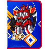 Папка для тетрадей «Яркий робот» А4, сине-красный