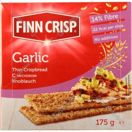 Сухарики «Finn Crisp» с чесноком, 175 г.