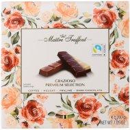Ассорти шоколада «Maitre Truffout» кофе, пралине, нуга, фундук, 200 г.