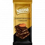 Шоколад темный «Nestle» с миндалем, 90 г.