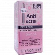 Эмульсия-корректор «Bio world anti acne» ночной, 10 мл.