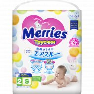 Трусики-подгузники «Merries» Mega S, 4-8 кг, 62 шт.