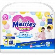 Трусики-подгузники «Merries» Mega XXL, 15-28 кг, 26 шт.