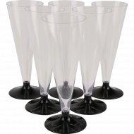 Бокал для шампанского «Конус» на низкой ножке , 150 мл, 6 шт.