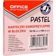 Бумага для заметок «Office products» 76х76 мм., розовая пастель
