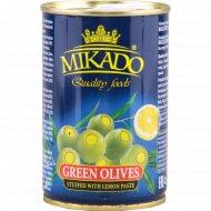 Оливки зеленые «Mikado» фаршированные лимоном, 300 г.