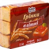 Гренки «Добра грiнка» элитные, 140 г.