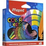 Мелки для асфальта «Color Peps» 6 шт, квадратные, ассорти