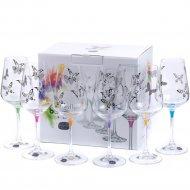 Набор бокалов для вина «Bohemia Crystal» Butterfly, 6 штук, 350 мл