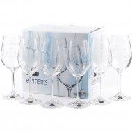 Набор бокалов для вина «Bohemia Crystal» Elements, 6 штук, 450 мл