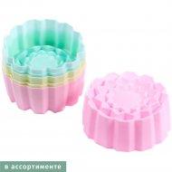 Набор форм силиконовых для выпекания кексов, 6 шт, 6х4 см.