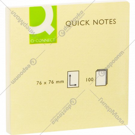 Бумага для заметок «Office products» 76х76 мм., желтая пастель