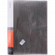 Папка-скоросшиватель «Волна» серая, 0.6 мм