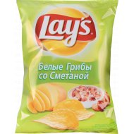 Чипсы «Lay's» со вкусом белых грибов со сметаной 80 г