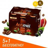 Продукт кисломолочный «Actimel» с экстрактом кофе, 2.5 %, 6x100 г.