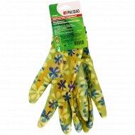 Перчатки садовые из полиэстера, размер S.