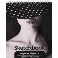 Скетчбук «Девушка в шляпе» А5, 30 листов
