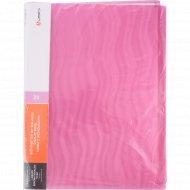 Папка с 20 вкладышами, розовая волна, 0.6 мм