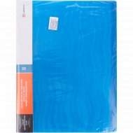 Папка с 20 вкладышами, синяя волна, 0.6 мм