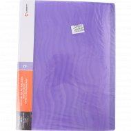 Папка с 20 вкладышами, фиолетовая волна, 0.6 мм