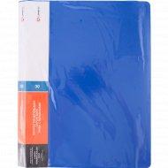 Папка с 30 вкладышами, синяя, 0.6 мм