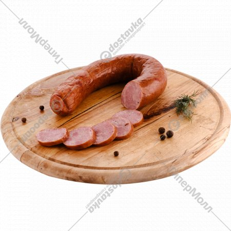 Колбаса «Дубовая из индейки» копчено-вареная, высшего сорта, 1 кг., фасовка 0.3-0.34 кг