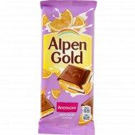 Шоколад «Alpen Gold» с апельсиновой начинкой, 85 г.