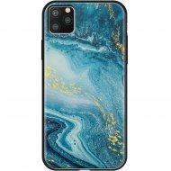 Чехол «Deppa» Glass Case для Apple iPhone 11 Pro Max 87267 голубой агат.