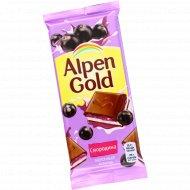 Шоколад молочный «Alpen Gold» со смородиновой начинкой, 85 г.