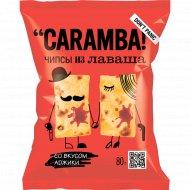 Чипсы злаковые из лаваша «Caramba» со вкусом аджики, 80 г.
