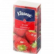 Платочки бумажные «Kleenex Aroma Strawberry» 21x20 см, 10 шт.