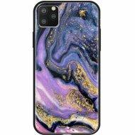 Чехол «Deppa» Glass Case для Apple iPhone 11 Pro Max 87270 фиолетовый агат.