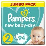 Подгузники «Pampers» New Baby Dry, 4-8 кг, 2 размер, 94 шт.