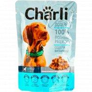 Консервированный корм для собак «Charli» с телятиной, 100 г.
