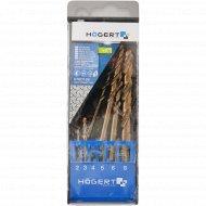 Набор сверл кобальтовых по металлу «Hogert» HT6D186 Co 5%, 6 шт.